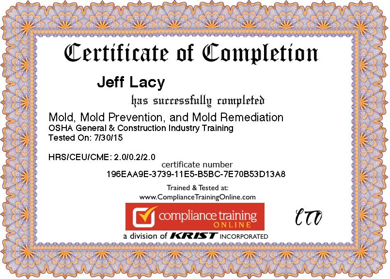Image result for mold remediation certification